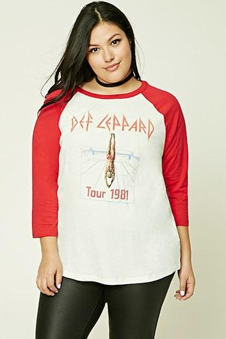 Forever21 Plus Size Def Leppard Band Tee