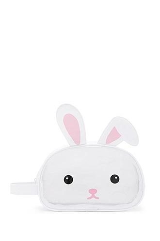 Forever21 Clear Bunny Makeup Bag