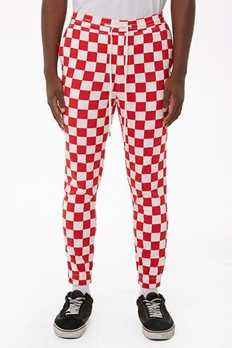 Forever21 Elwood Twill Checkered Joggers