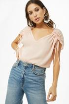 Forever21 Ruched Satin Top
