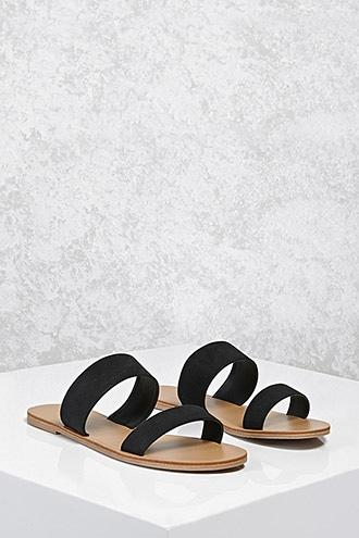 Forever21 Faux Suede Strapped Sandals