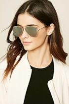 Forever21 Metallic Aviator Sunglasses