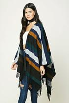 Forever21 Fringed Colorblock Shawl