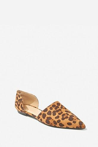 Forever21 Cheetah Print Pointed Toe Flats