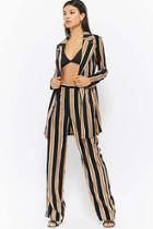 Forever21 Striped Jacket & Pants Set