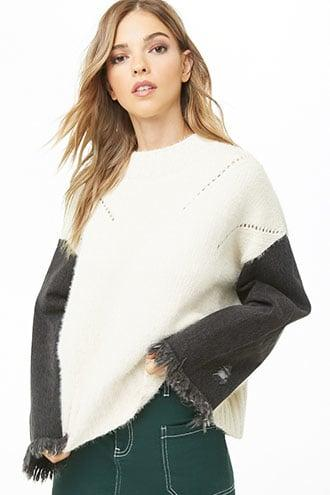 Forever21 Brushed Combo Sweater