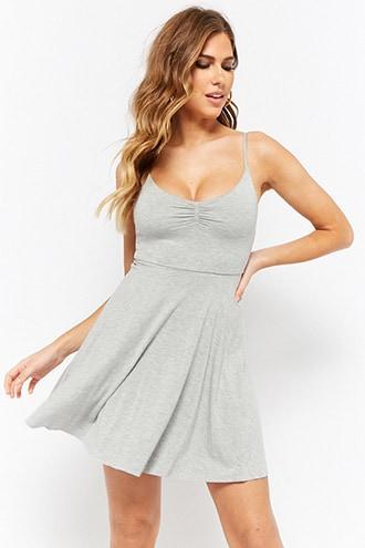 Forever21 Heathered Cami Skater Dress