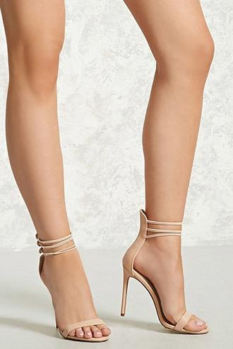 Forever21 Triple Strap Stiletto Heels