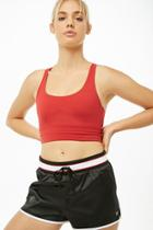 Forever21 Active Striped-trim Satin Shorts