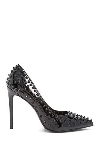 Forever21 Spiked Faux Patent Leather Pumps