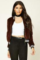 Love21 Women's  Contemporary Faux Fur Jacket