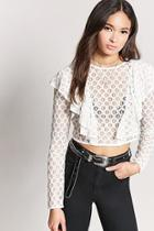 Forever21 Crochet Lace Ruffle Crop Top