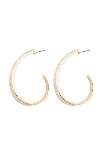 Forever21 Hammered Oblong Hoop Earrings