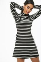 Forever21 Striped Mock Neck Dress