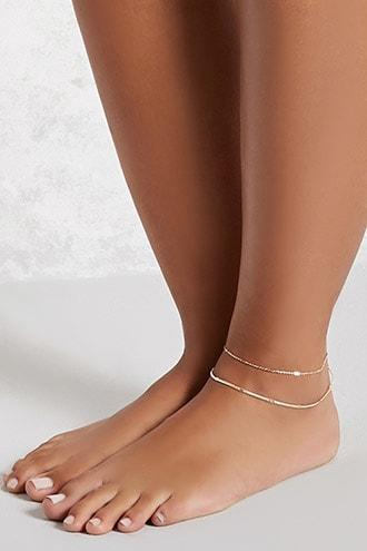 Forever21 High-polish Layered Anklet