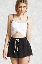 Forever21 Satin Striped Shorts