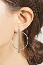 Forever21 Bar Charm Hoop Earrings