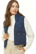 Forever21 Quilted Faux Suede Vest