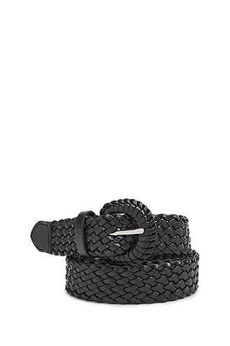 Forever21 Faux Leather Woven Hip Belt