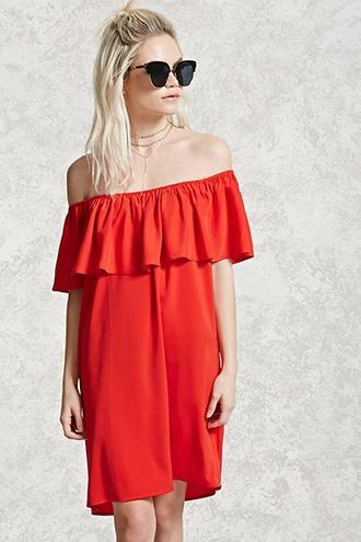 Forever21 Satin Flounce Mini Dress