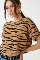 Forever21 Boxy Tiger Print Top