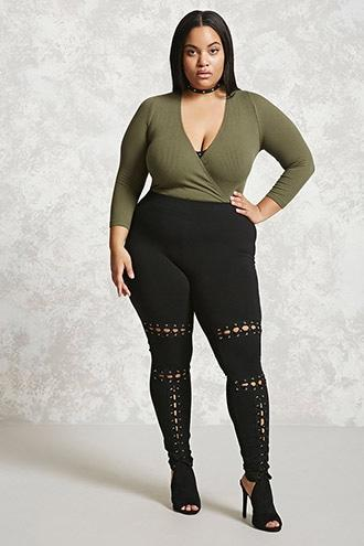 Forever21 Plus Size Strappy Leggings