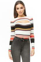 Forever21 Cutout Striped Sweater