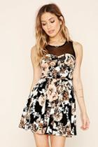 Forever21 Pleated Floral Skater Dress