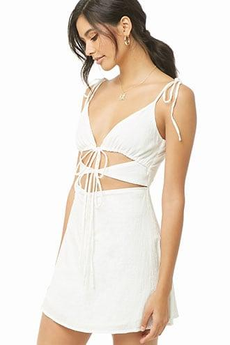 Forever21 Cutout Mini Cami Dress