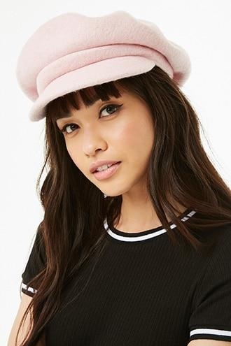 Forever21 Plush Knit Cabby Hat