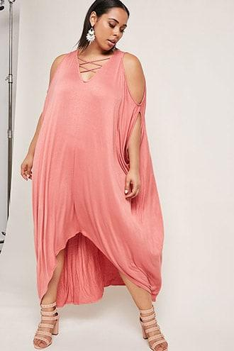 Forever21 Plus Size Batwing Maxi Dress
