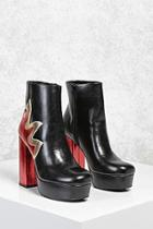 Forever21 Metallic Flame Platform Boots