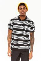 Forever21 Striped Knit Polo