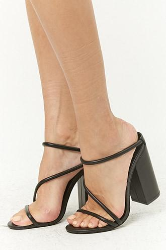 Forever21 Strappy Block Heel Sandals