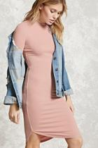 Forever21 Contemporary Ribbed Knit Dress