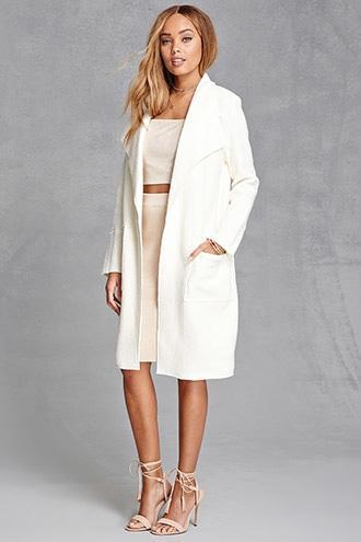 Forever21 Bellfield Longline Coat