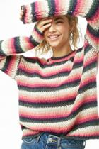 Forever21 Open-knit Striped Sweater