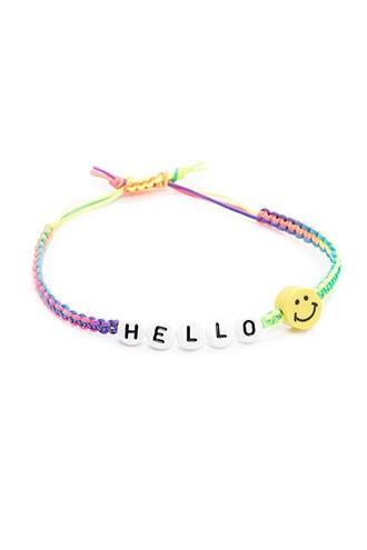 Forever21 Beaded Hello Bracelet