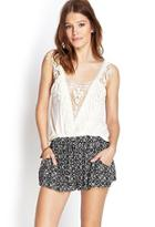 Forever21 Tribal Print Drawstring Shorts