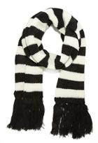 Forever21 Striped Fringe Scarf