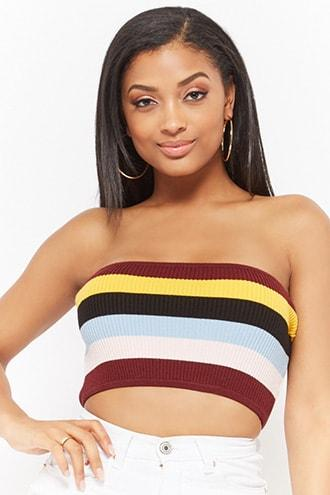 Forever21 Striped Tube Top