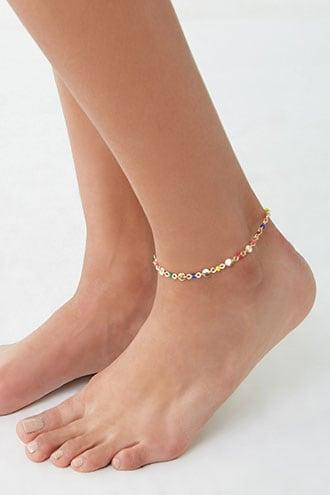 Forever21 Beaded Disc Charm Anklet