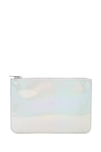 Forever21 Faux Leather Holographic Clutch
