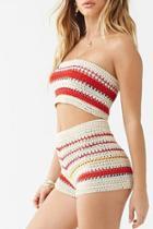 Forever21 Multicolor Striped Crochet Shorts