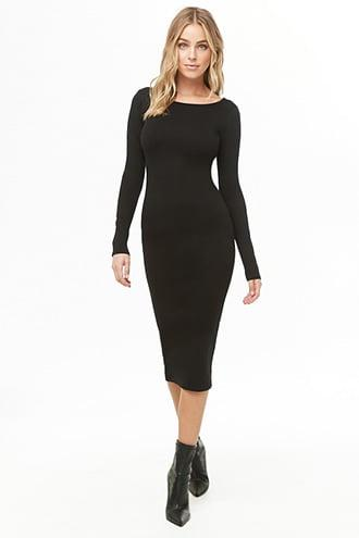 Forever21 Solid Midi Dress