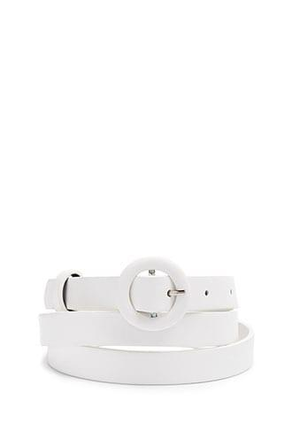 Forever21 O-ring Buckle Skinny Belt