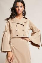Forever21 Cropped Double-breasted Trench Coat
