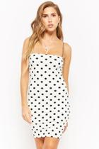 Forever21 Strapless Polka-dot Dress
