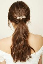 Forever21 Floral Faux Pearl Barrette
