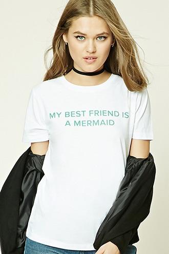 Forever21 My Best Friend Is A Mermaid Tee